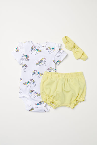 3-piece jersey set - White/My Little Pony - Kids | H&M CN