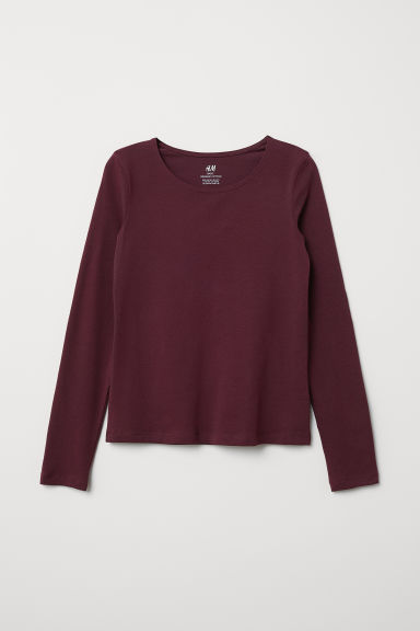 Top in jersey - Rosso scuro - BAMBINO | H&M IT