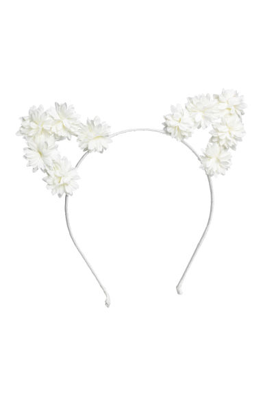 Alice band with ears - White - Kids | H&M CN