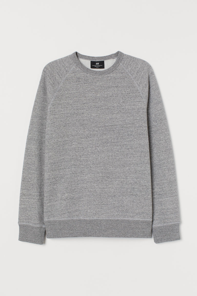 Sweatshirt Regular Fit - Gråmelerad - HERR | H&M SE