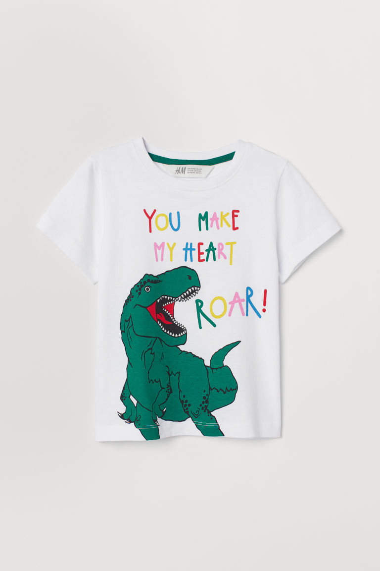 T-shirt con stampa - Bianco/dinosauro -  | H&M CH