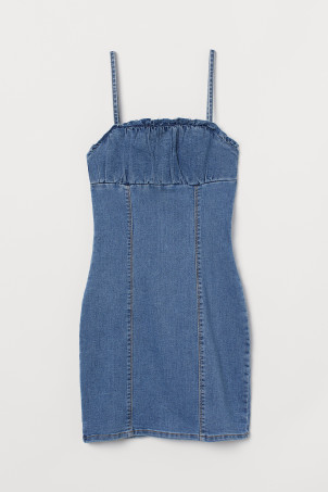 Vestido bodycon de denim