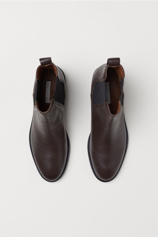 fd87c768134c8 Leather Chelsea Boots - Brown - Ladies | H&M ...
