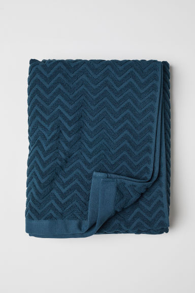 Asciugamano jacquard - Petrolio - HOME | H&M IT