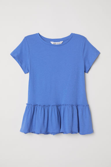Peplum top - Blue -  | H&M