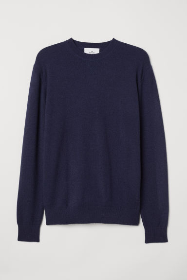 Cashmere jumper - Dark blue - Men | H&M