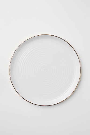 Textured porcelain dish - White - Home All | H&M GB