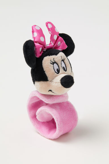 Snap-on soft toy bracelet - Light pink/Minnie Mouse - Kids | H&M