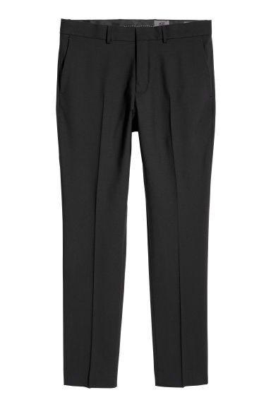 Wool suit trousers Slim fit - Black -  | H&M