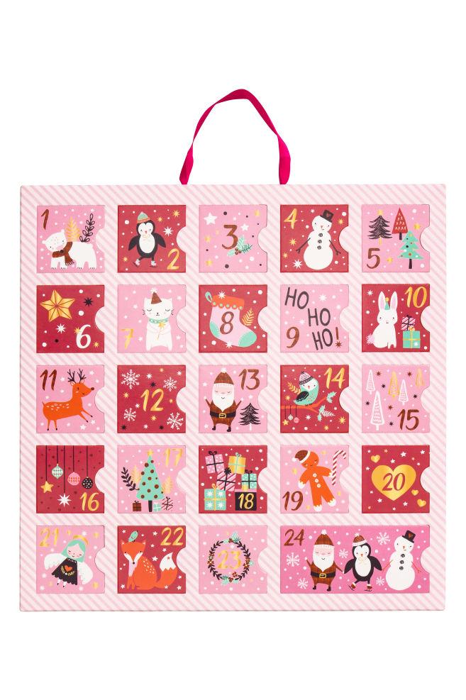 Adventi naptár - Rózsaszín - GYEREK  3f1c938a21