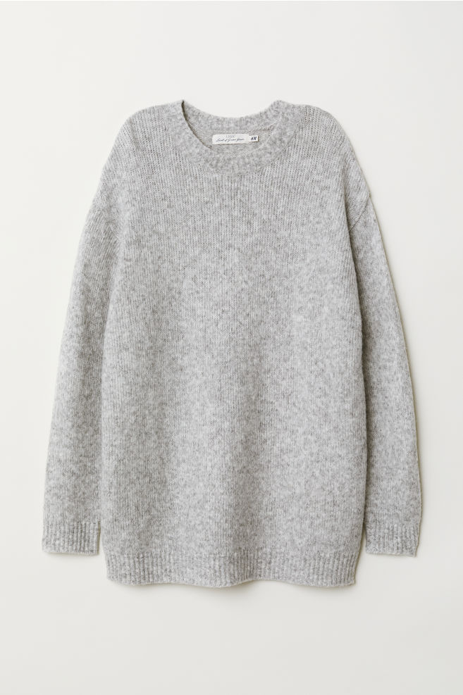 6e9f76948c6fa4 Long jumper - Light grey marl - Ladies | H&M ...