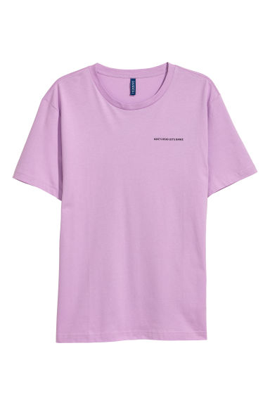 Printed T-shirt - Light purple -  | H&M GB