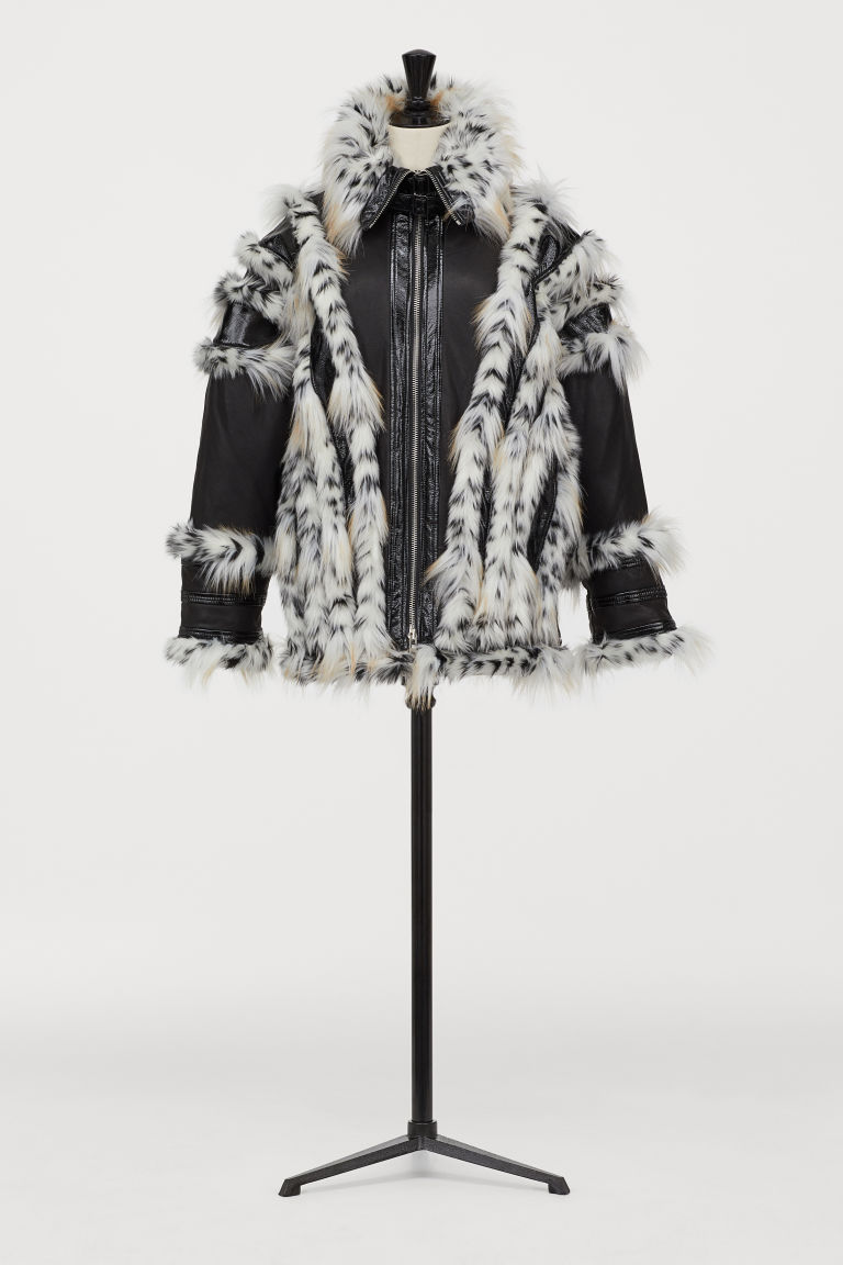 Oversized Leather Jacket - Black - Ladies | H&M US