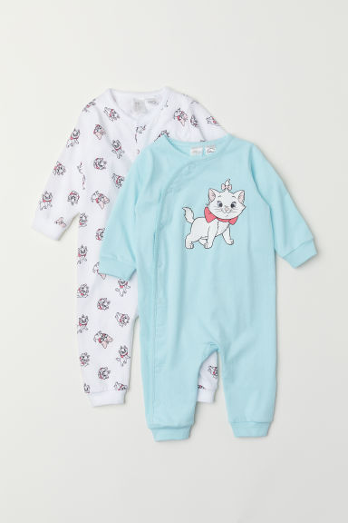 2-pack all-in-one pyjamas - Turquoise/Aristocats - Kids | H&M