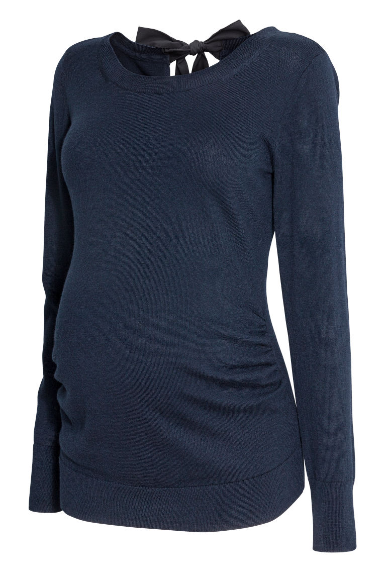 MAMA Knit Sweater - Dark blue - Ladies | H&M US