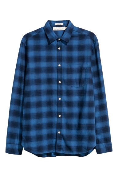 Checked shirt Regular fit - Blue/Checked - Men | H&M CN