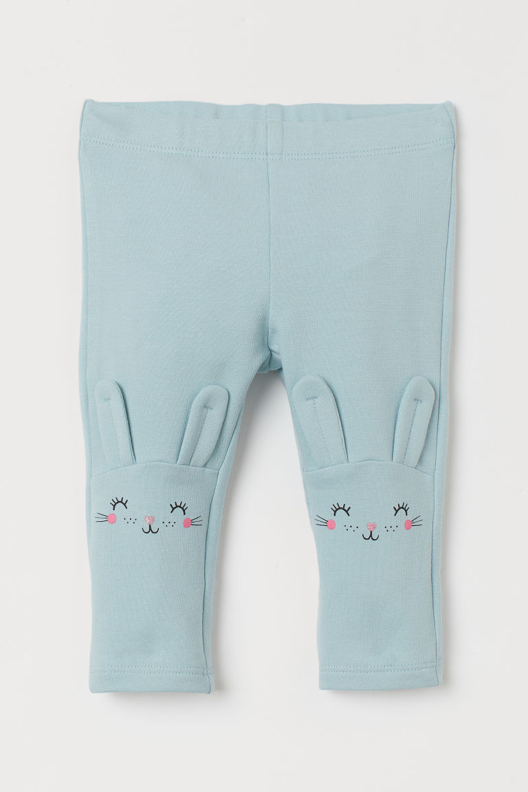 Leggings med applikationer - Mintgrön/Kaniner - BARN | H&M FI