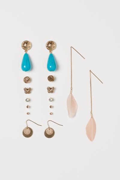 H&M - 8 pairs earrings - 1