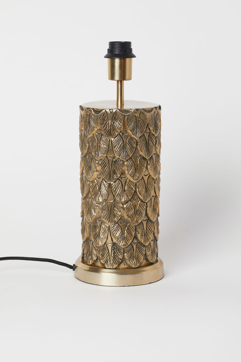 Metal table lamp - Gold-coloured - Home All | H&M GB