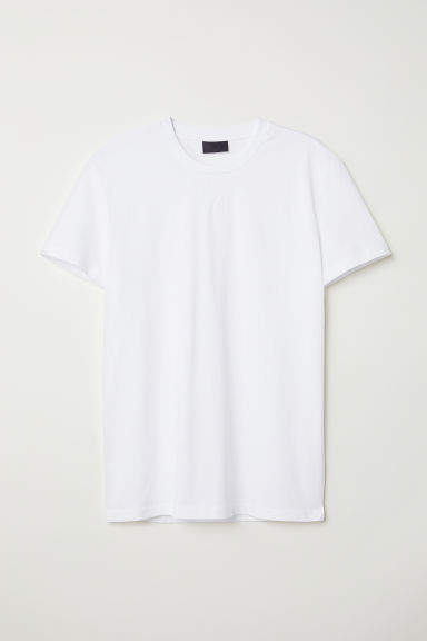 Round-necked T-shirt - White - Men | H&M CN
