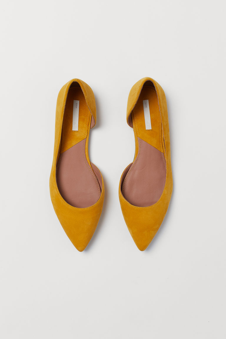 Pointed ballet pumps - Yellow - Ladies | H&M