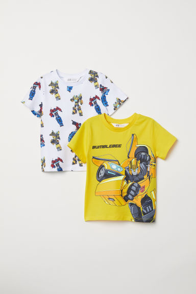 2-pack T-shirts - Yellow/Transformers - Kids | H&M