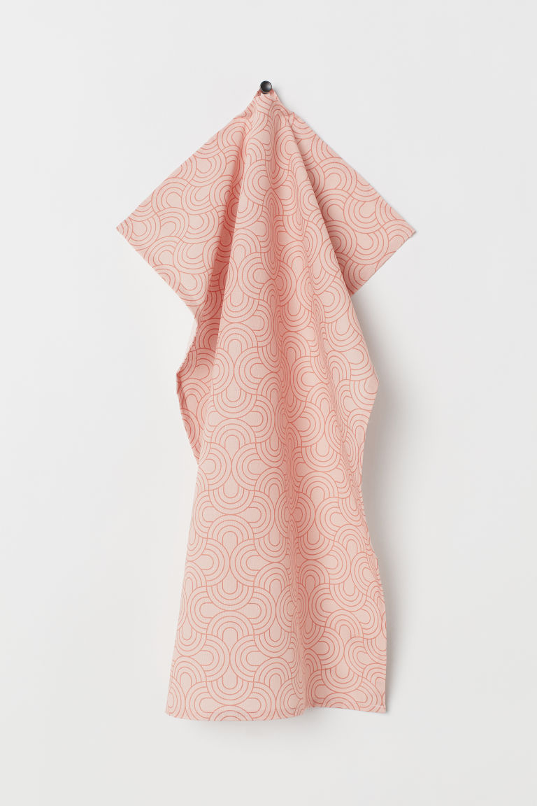 Cotton Tea Towel - Light pink - Home All | H&M CA