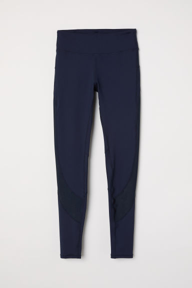 Running tights - Dark blue - Ladies | H&M