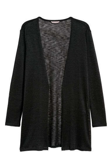 H&M+ Fine-knit cardigan - Black - Ladies | H&M GB