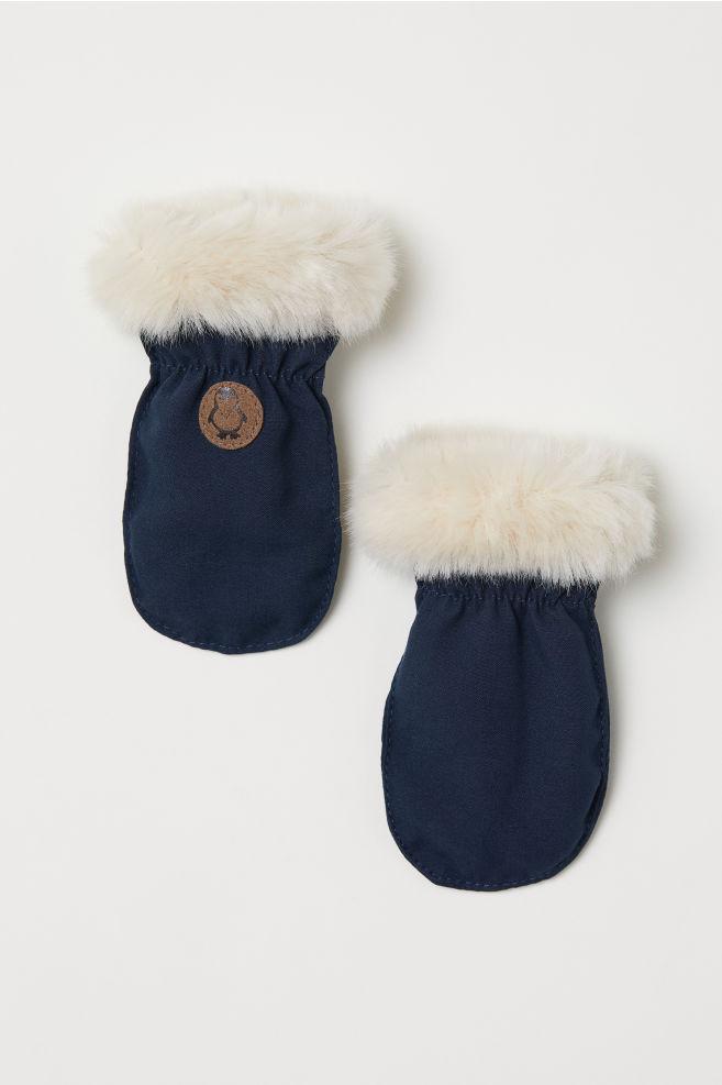 Moufles doublées de polaire - Bleu foncé - ENFANT   H M ... f009fe5804d