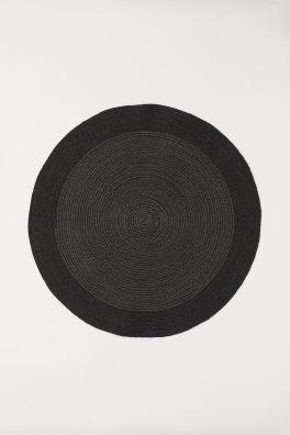 Round jute bath mat
