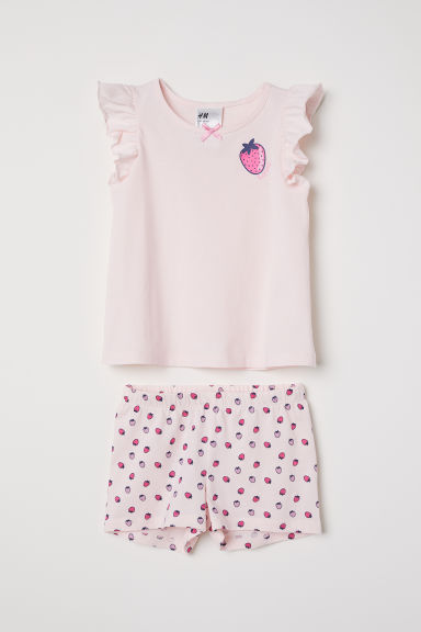 Jersey pyjamas - Light pink - Kids | H&M CN
