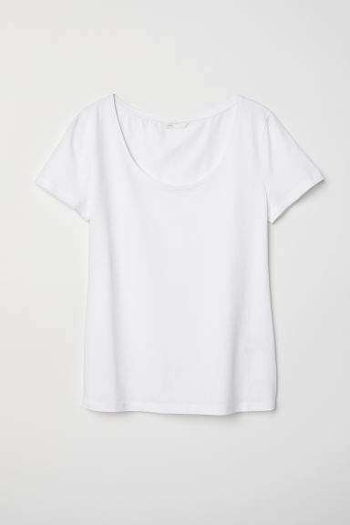 Tricot top - Wit - DAMES | H&M BE