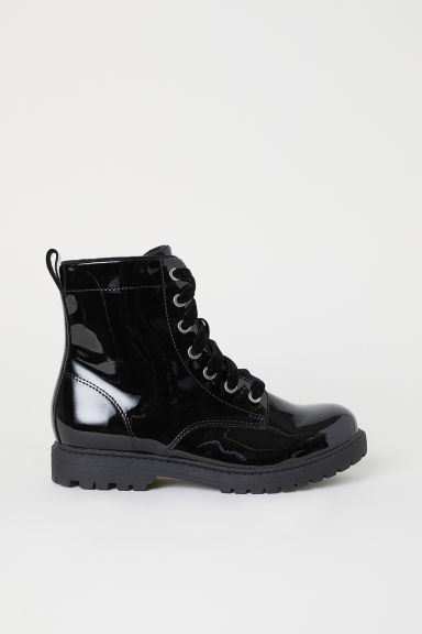 Fleece-lined boots - Black -  | H&M CN