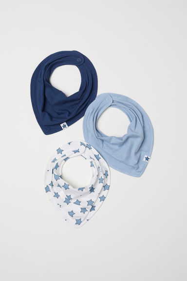 3-pack triangular scarves - Dark blue - Kids | H&M