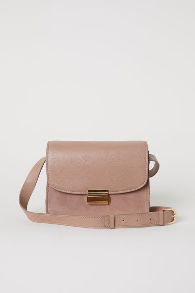 Leather shoulder bag - Beige - Ladies | H&M