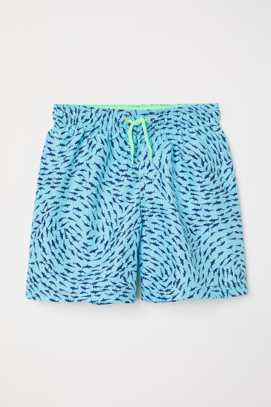 Swim shorts - Turquoise/Sharks - Kids | H&M CN