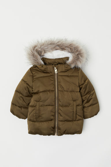Padded parka - Khaki green - Kids | H&M