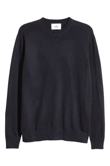 Cashmere jumper - Navy blue - Men | H&M
