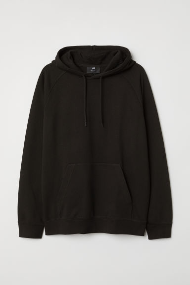 Hooded Raglan-sleeve Shirt - Black - Men | H&M US