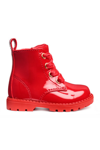 Warm-lined boots - Red - Kids | H&M CN