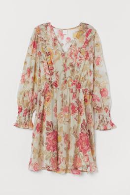 e12904ecc502 V-neck Chiffon Dress