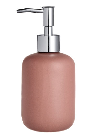 Stoneware soap dispenser - Brown - Home All | H&M CN