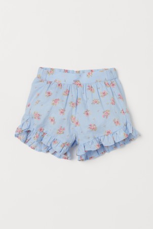 Ruffle-trimmed Cotton Shorts