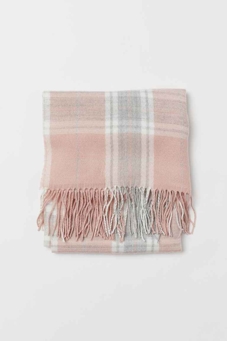 Color-block Scarf - Powder pink - Kids | H&M US 2