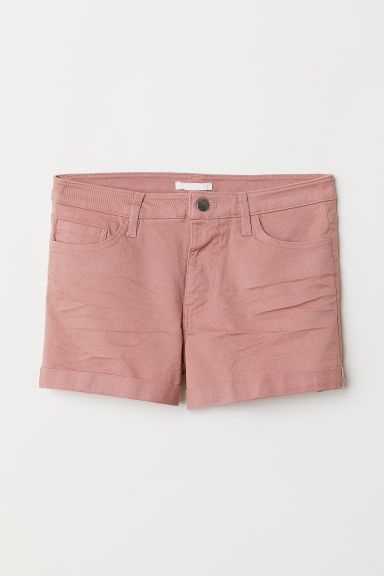 Shorts corti in twill - Rosa vintage - DONNA | H&M IT