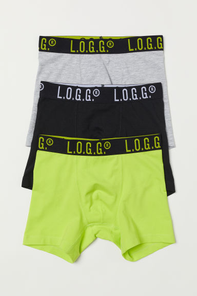 3-pack boxer shorts - Neon green - Kids | H&M