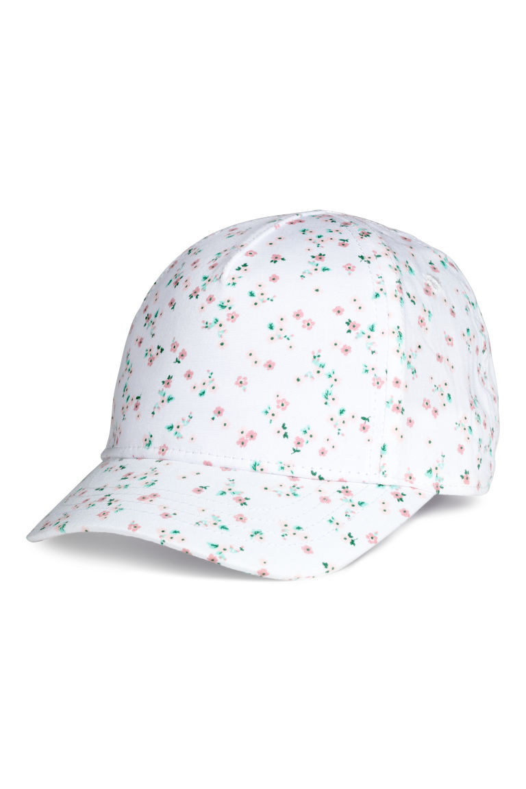 Cotton cap - White/Floral - Kids | H&M CN