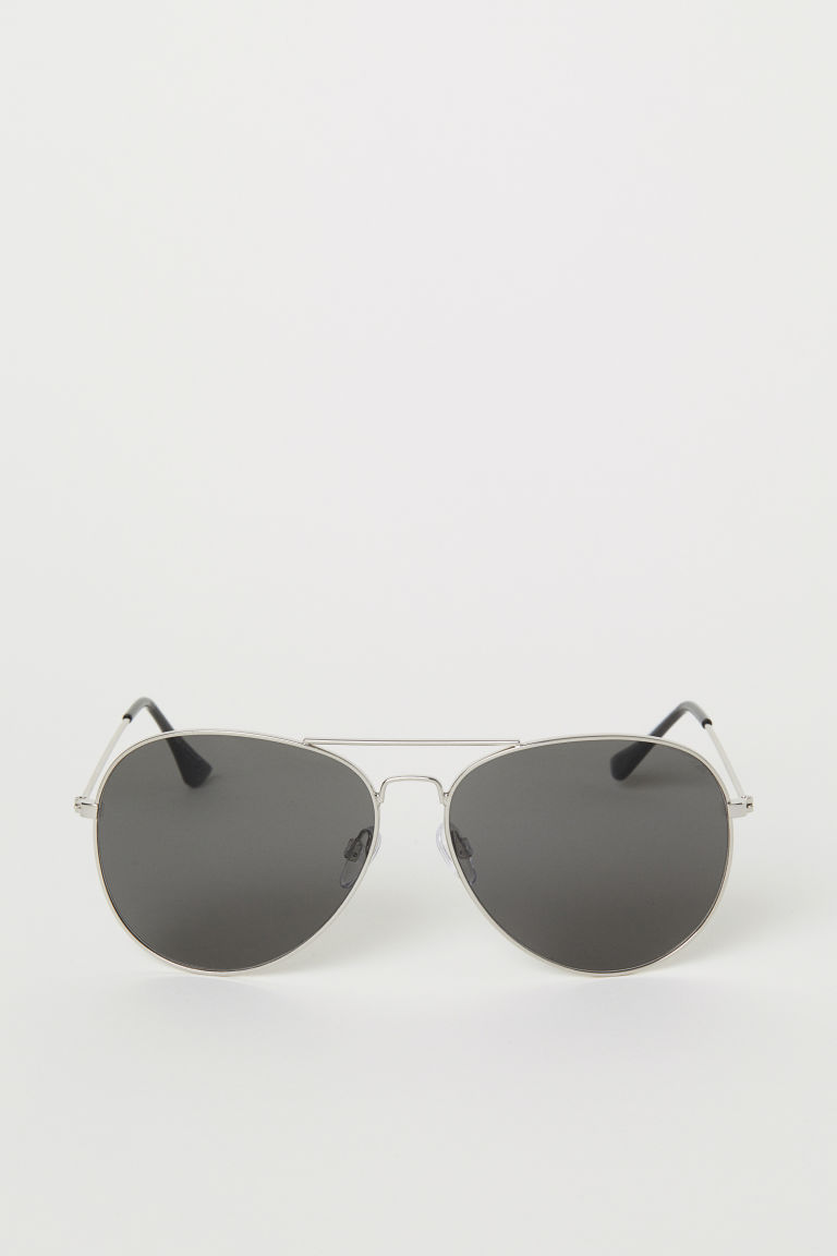 Sunglasses - Silver-colored/black - Men | H&M US