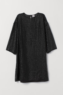 T-shirt dress with sequinsModel